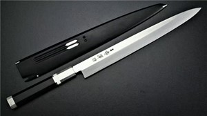 Picture of Akazawa PM Honyaki ZDP189 Yanagi with Hon-Ebony Saya cover300mm ( Sold Out , Pre-orderable )