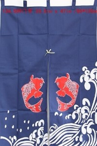 "图片 ML2 ""Koi Fish"" Decorative Curtain Style-2 (509)"