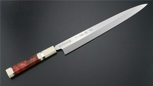 Picture of Izumimasa Chou  Ao-Ko Mizu Honyaki Yanagi with red wood handle 270mm  (SOLD OUT)
