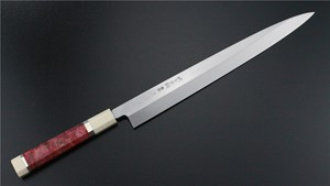 Picture of Izumimasa Ao-Ko Mizu Honyaki Yanagi with red wood handle 300mm  (SOLD OUT)
