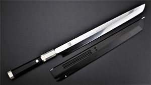 Picture of Akazawa's ZDP189 Whole Mirror Polished 300mm Honyaki Sakimaru ( Sold Out , Pre-orderable )